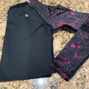 crop top Workout Empire athletic long sleeve top